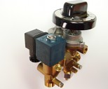 Taps with solenoid valve and thermoelectric safety